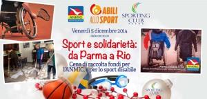 Sport e solidarietà: da Parma a Rio @ Sporting Club | Parma | Emilia-Romagna | Italia