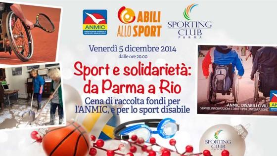 Sport e solidarietà: da Parma a Rio