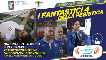 I fantastici 4 agli IPC Powerlifting Asian Open Championships