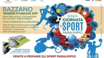 La Giornata degli sport paralimpici il 31 maggio a Bazzano